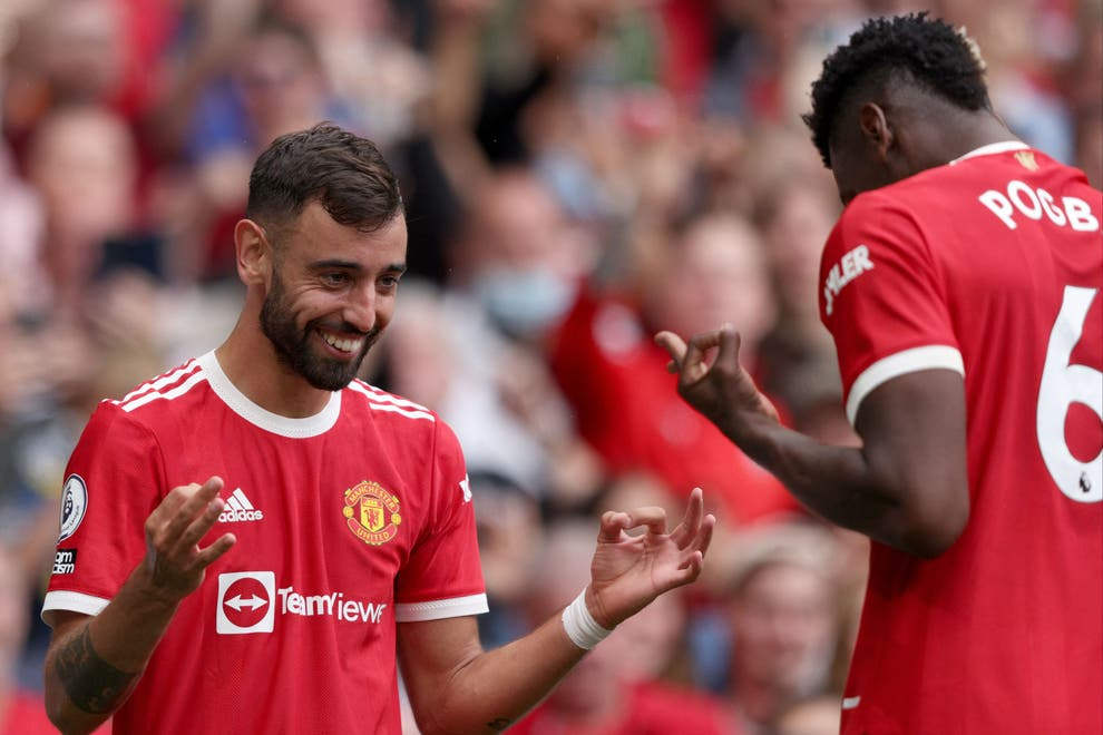 Bruno Fernandes and Paul Pogba